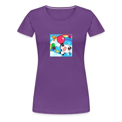Rainbow with a panda - Women's Premium T-Shirt