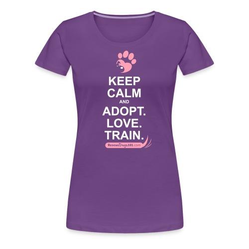 RescueDogs101 Keep Calm - Women's Premium T-Shirt