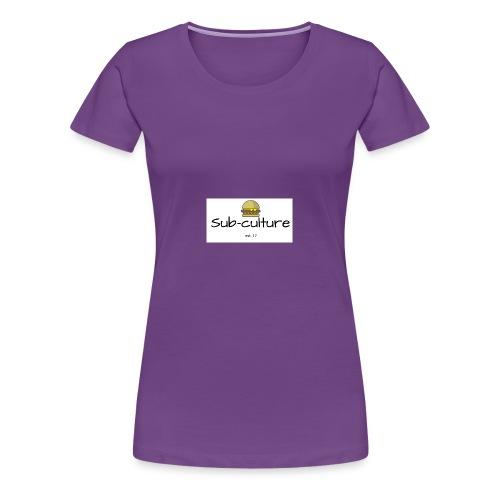Sub-culture burger logo - Women's Premium T-Shirt