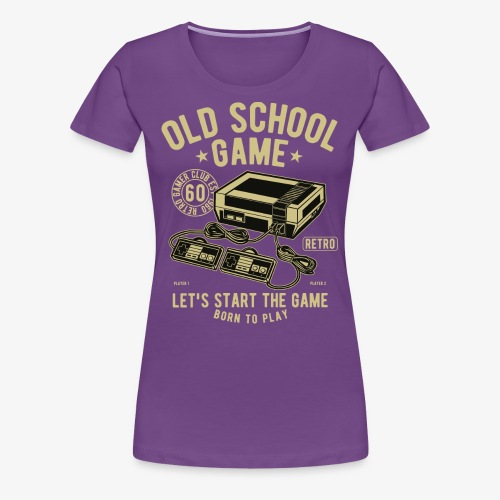 Old School Game - Women's Premium T-Shirt