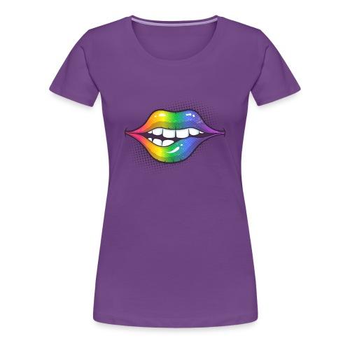 Rainbow Lips - Women's Premium T-Shirt