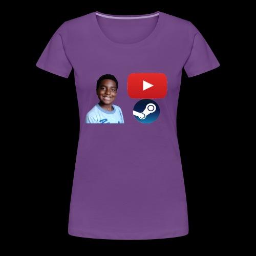 Steam and Youtube - Women's Premium T-Shirt