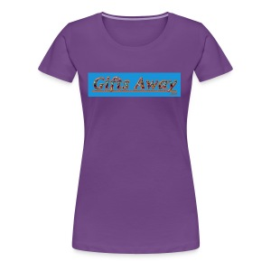Gifts Away T-dye Logo - Women's Premium T-Shirt