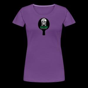 Bar Pong Paddle Logo - Women's Premium T-Shirt