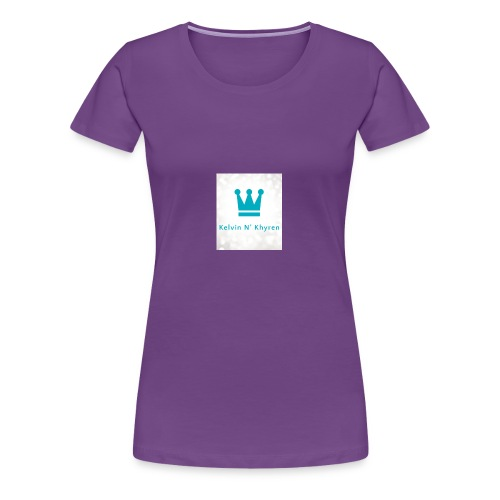 Back Ground Sparks on Blue Classic - Women's Premium T-Shirt
