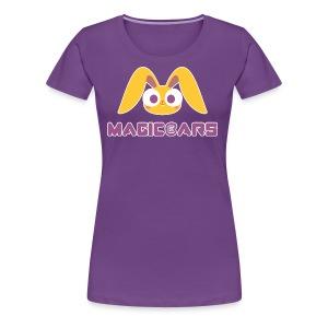 Purple T-shirt with yellow bunny - Women's Premium T-Shirt