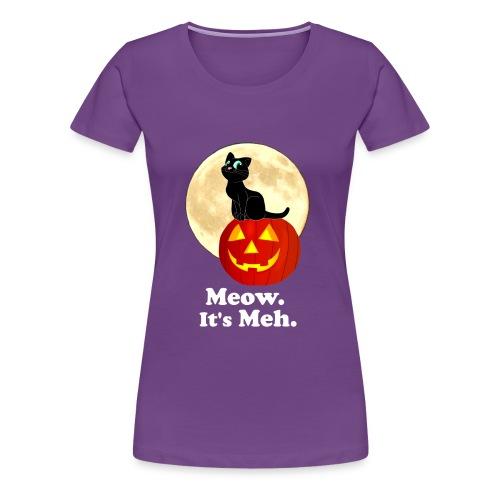Black Cat Pumpkin Funny Halloween Gifts Ideas - Women's Premium T-Shirt