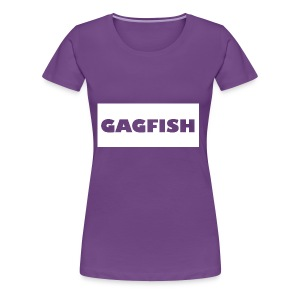 GAGFISH WIGHT LOGO - Women's Premium T-Shirt