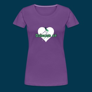 Dancer At Heart (White Heart) - Women's Premium T-Shirt