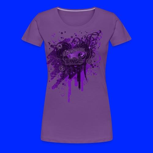 Vintage Cannonball Bingo Drip Purple - Women's Premium T-Shirt