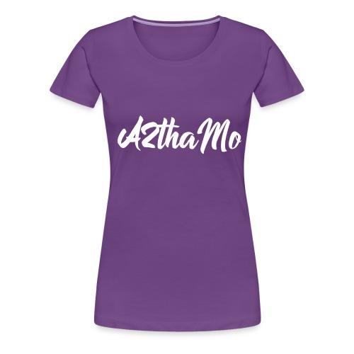 A2thaMo Logo White - Women's Premium T-Shirt