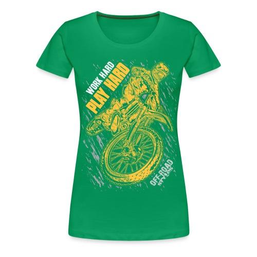 MX Play Hard Orange - Women's Premium T-Shirt