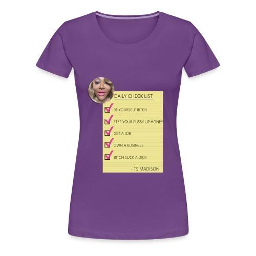 ts Madison Checklist - Women's Premium T-Shirt