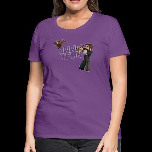 Awww Yeah (Bat) - Women's Premium T-Shirt