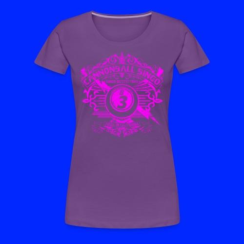 Vintage Cannonball Bingo Crest Pink - Women's Premium T-Shirt