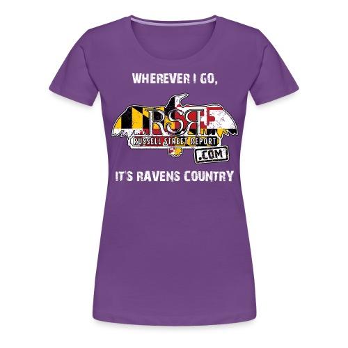 rsr logo ravens country png - Women's Premium T-Shirt