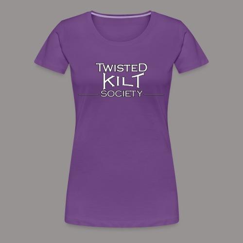 TKS words white - Women's Premium T-Shirt