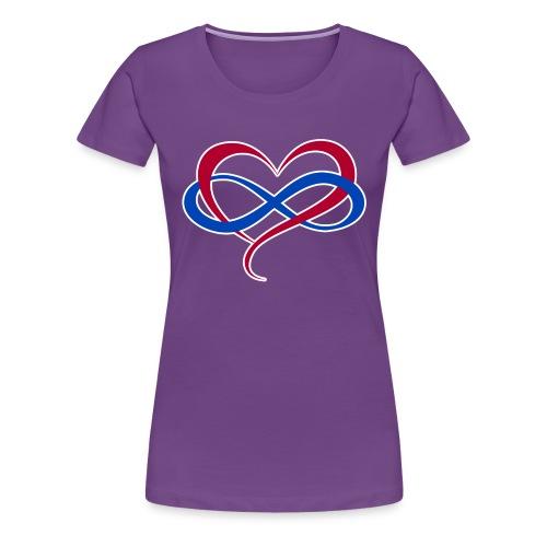 Polyamory Infinity Heart - Women's Premium T-Shirt