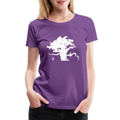 Oak Tree with children playing - Women's Premium T-Shirt