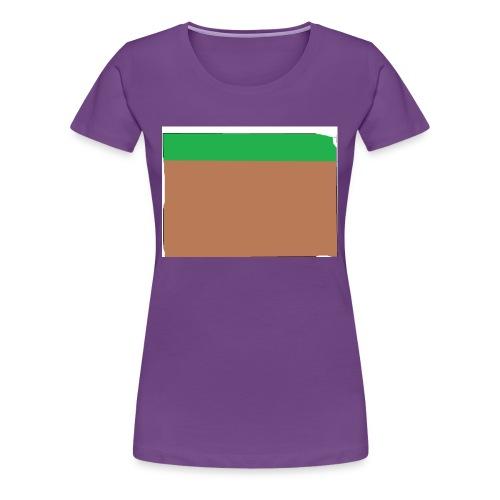 Grass block - Women's Premium T-Shirt
