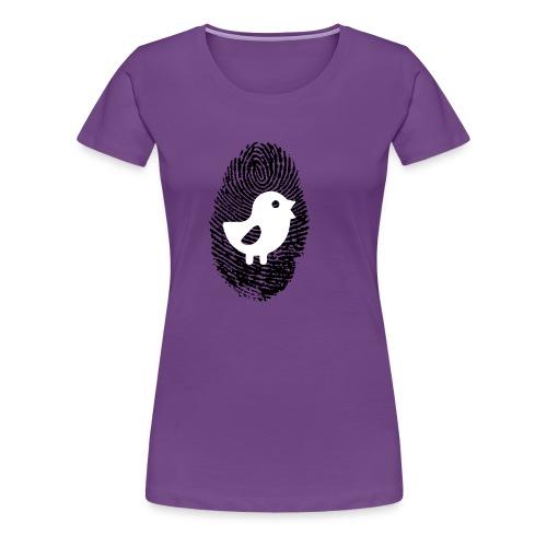 Chick Finger Print - Women's Premium T-Shirt