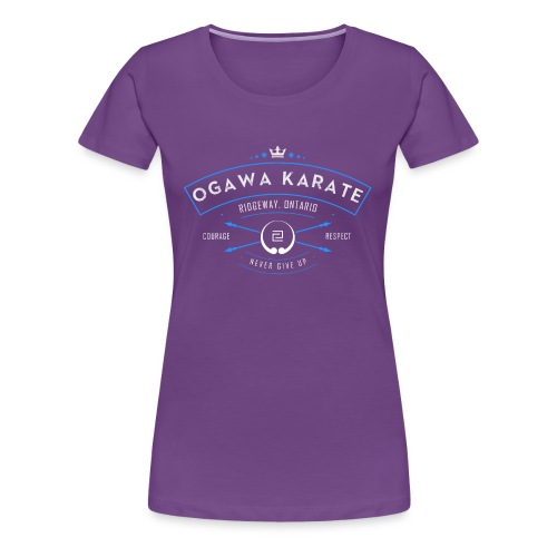 Vintage Ogawa Karate Logo Design - Women's Premium T-Shirt