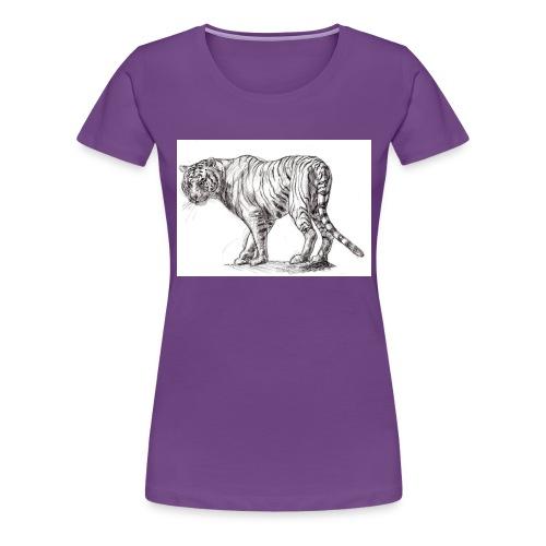Stalking Tiger - Women's Premium T-Shirt