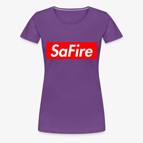 SaFire box logo tee - Women's Premium T-Shirt