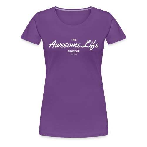 The AwesomeLife Project Logo White - Women's Premium T-Shirt