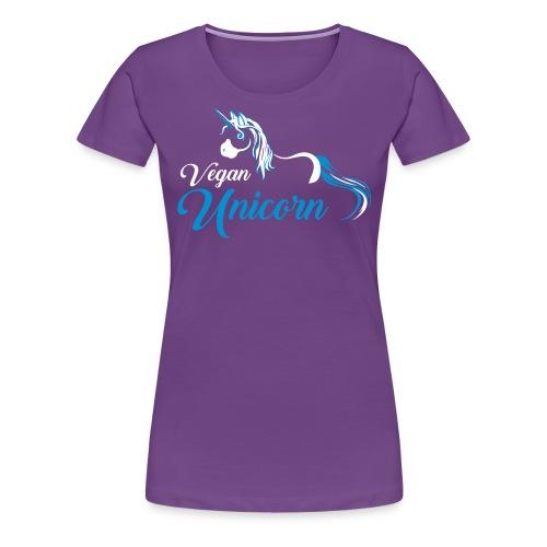 Vegan Unicorn - Women's Premium T-Shirt