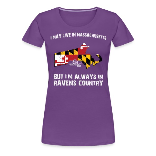 RavensCountryTee Massachusetts 11 png - Women's Premium T-Shirt