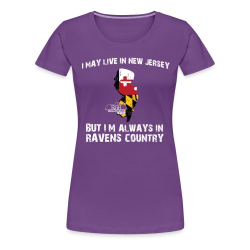 RavensCountryTee New Jersey 06 png - Women's Premium T-Shirt