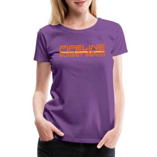 Pipeline Sunset Beach - North Shore, Oahu, Hawaii - Women's Premium T-Shirt