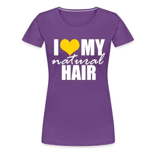 LOVE MY NH yellow-white - Women's Premium T-Shirt