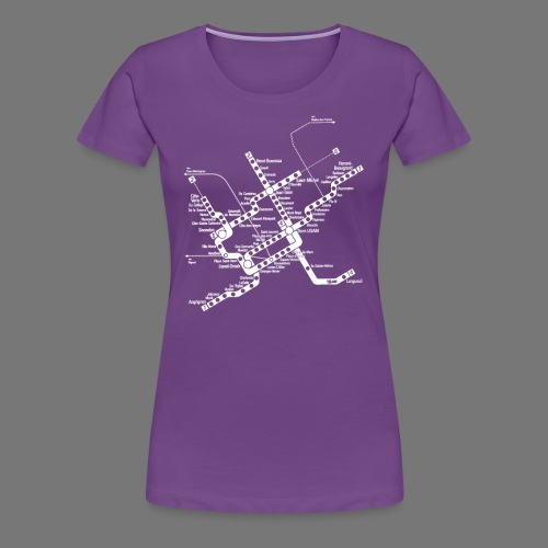 METRO Map - Women's Premium T-Shirt