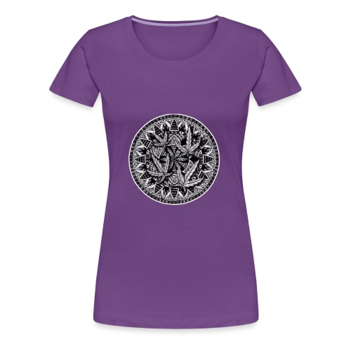 Weed Leaf Design - Women's Premium T-Shirt