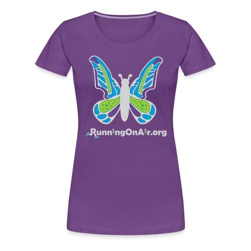 Running On Air logo for dark colored shirts - Women's Premium T-Shirt