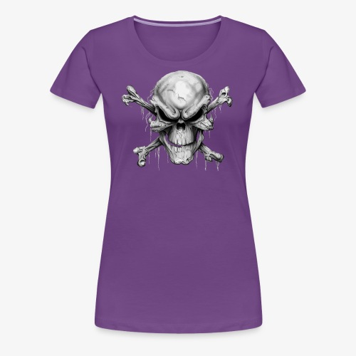 Skull And Crossbones - Women's Premium T-Shirt