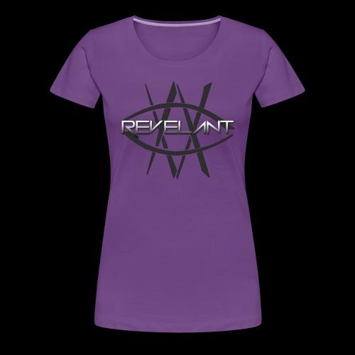 Revelant eye and text logo, black. - Women's Premium T-Shirt