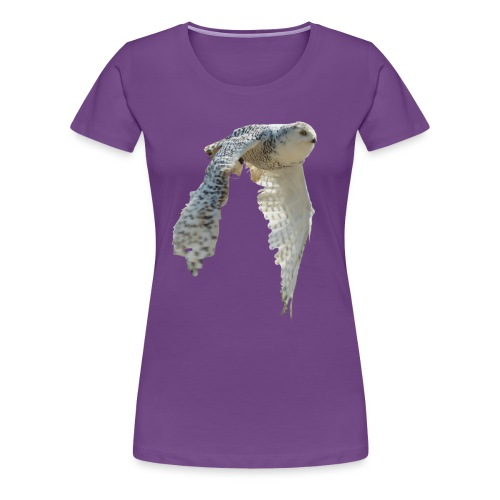 snowy owl Hedwig cute awesome photo art - Women's Premium T-Shirt