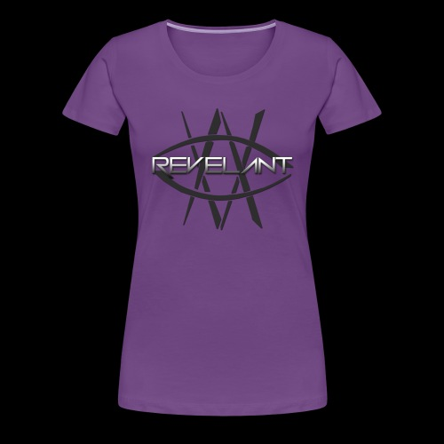 Revelant eye and text logo, black. - Women's Premium T-Shirt