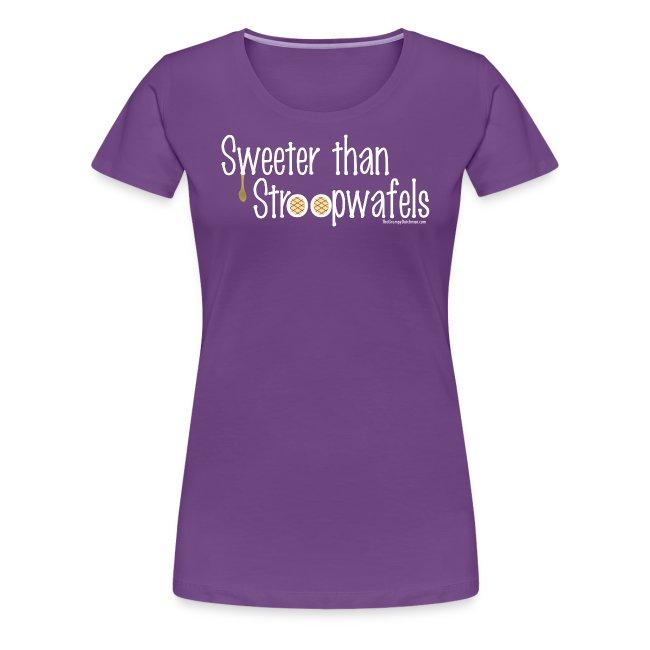 Stroopwafles white lettering