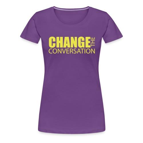 changetheconversationwhit - Women's Premium T-Shirt
