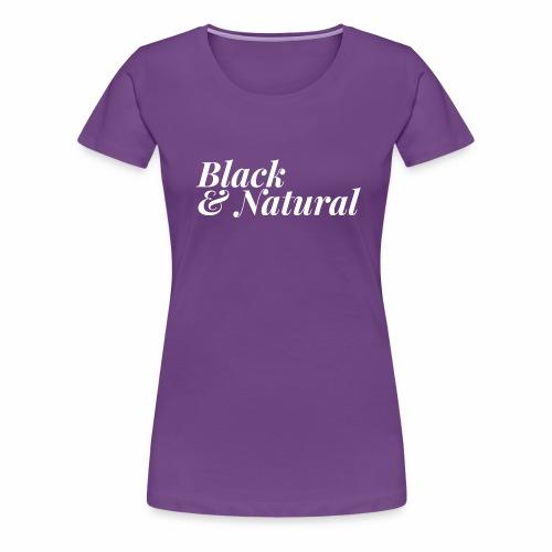 Black & Natural Women's - Women's Premium T-Shirt
