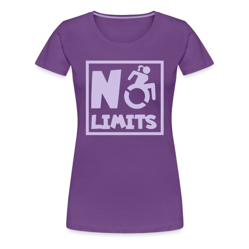 No limits for this female wheelchair user - Women's Premium T-Shirt