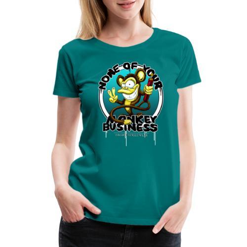no monkey busin - Women's Premium T-Shirt