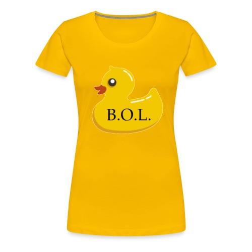 Official B.O.L. Ducky Duck Logo - Women's Premium T-Shirt