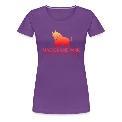 Orange Bull Red Text - Women's Premium T-Shirt