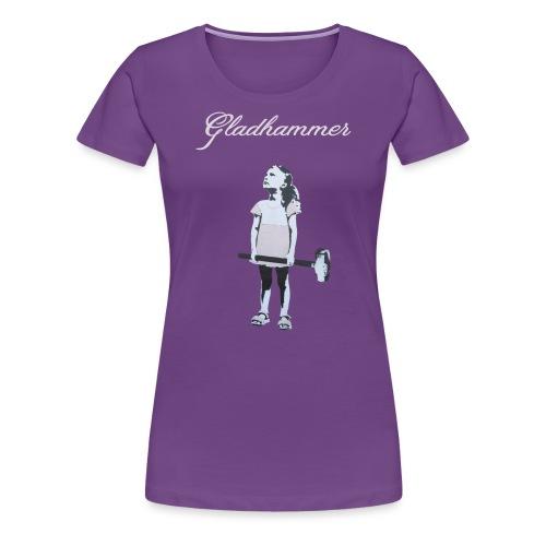 Gladhammer-Reluctant Girl - Women's Premium T-Shirt