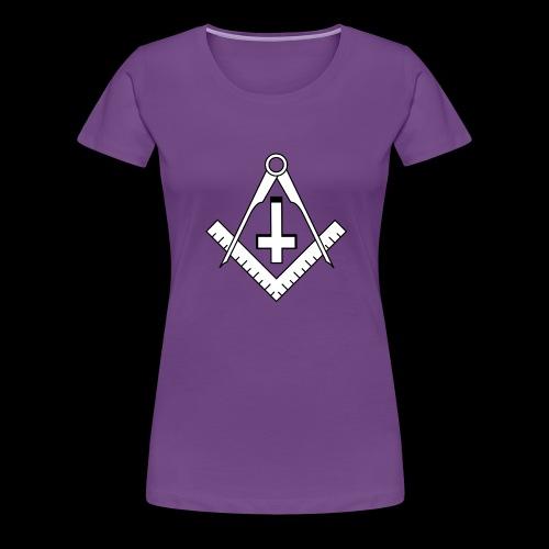 FreemasonCrossBlack - Women's Premium T-Shirt